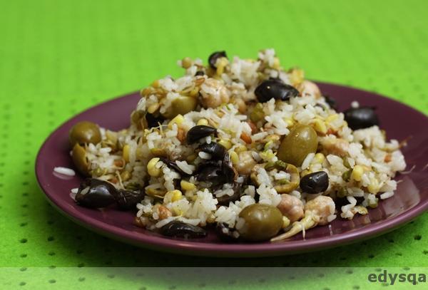 Ryż z kiełkami i kiszonymi cytrynami