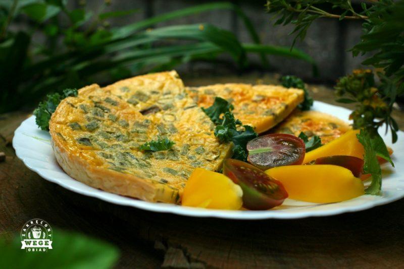 Pieczony placek a la omlet