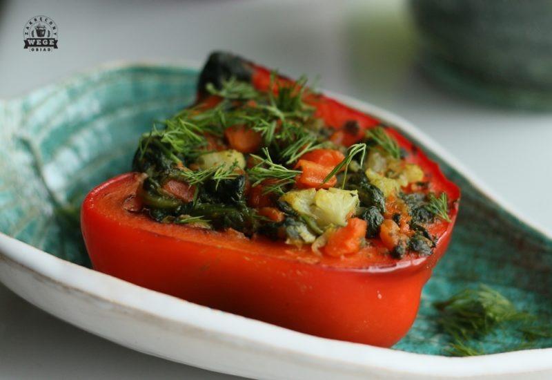 Papryka nadziewana warzywami- dieta dr Dąbrowskiej