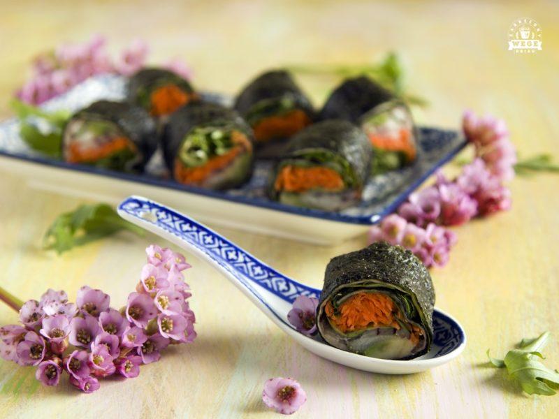 Warzywne sushi bez ryżu