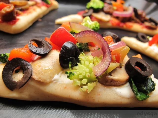 Trójkątne mini pizze