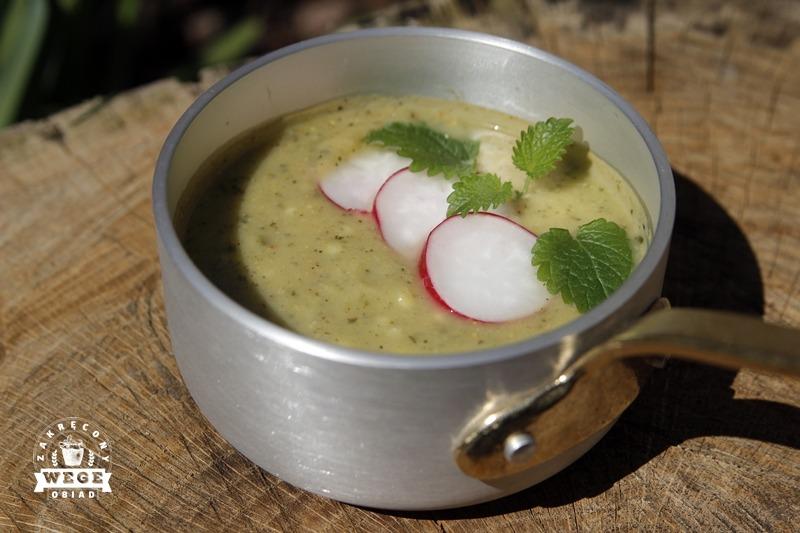 Zupa z cukinii z kaszą jaglaną