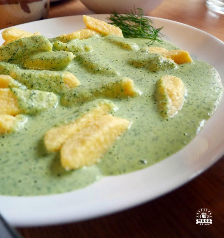 Sos z kaszy jaglanej, bardzo zielony