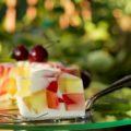 jogurtowiec z galaretkami - wegański