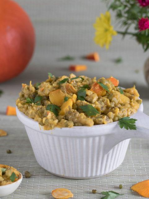 Curry z fasoli mung z dynią