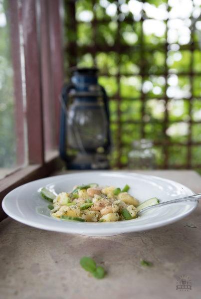 Sałatka ziemniaczana z fasolą